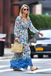 Nicky Hilton in a Floral Dress - New York 07/29/2021