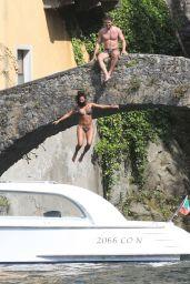 Nicole Scherzinger Jumping Off Bridge - Italy 07/03/2021