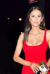 Nina Dobrev in All Red - Espy