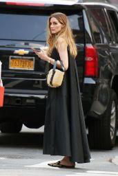 Olivia Palermo in a Black Maxi Dress - New York 07/07/2021
