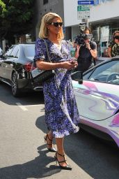 """Paris Hilton - Filming """"Paris In Love"""" at Kitson on Robertson Blvd in West Hollywood 07/12/2021"""