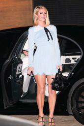 Paris Hilton in a Baby Blue Mini Dress at Nobu in Malibu 07/03/2021