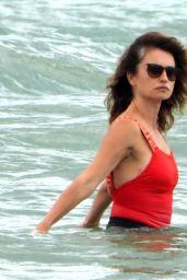 Penelope Cruz on the Beach in Fregene, Italy 07/20/2021