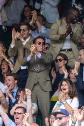 Priyanka Chopra Wore a Ralph Lauren Collection Pre-Fall 2021 Look and Ricky Bag - Wimbledon 07/11/2021