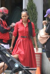 Regina King - Filming a Commercial in Los Angeles 07/29/2021