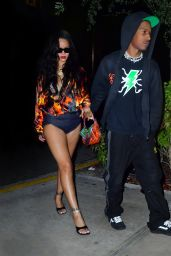 Rihanna and ASAP Rocky - Night Out in Miami 07/27/2021