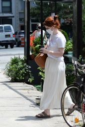 Rose Leslie in Casual Outfit - New York 07/24/2021