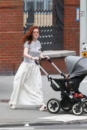 Rose Leslie Takes Her Newborn For a Stroll - NY 06/29/2021