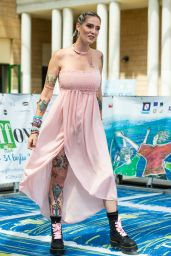 Sabrina Cereseto - Giffoni Film Festival 2021 Blue Carpet 07/27/2021