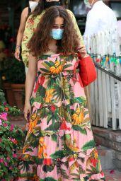 Salma Hayek Wearing a Long Floral Summer Dress - Beverly Hills 07/18/2021