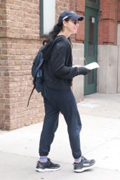 Sarah Silverman in Sweats and a Hoodie - New York  07/08/2021