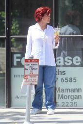 Sharon Osbourne With Her Daughter Aimee on Melrose Ave in West Hollywood 07/07/2021