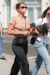 Sofia Richie - Shopping at Saint Laurent on Rodeo Drive in Beverly Hills 07/07/2021