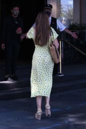 Sofia Vergara Wears a Bright Yellow Dress at Saks Fifth Avenue in Beverly Hills 07/27/2021