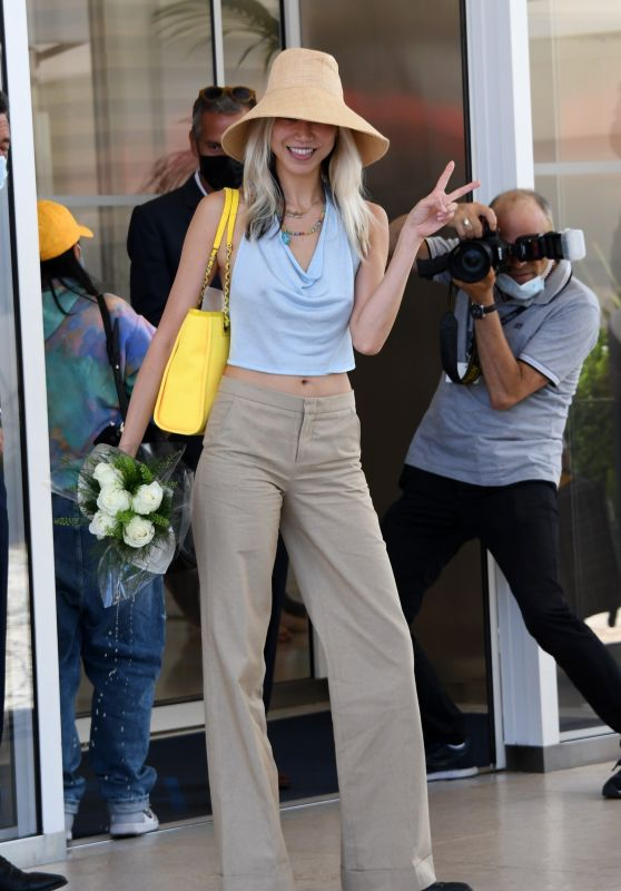 Soo Joo Park at the Hotel Martinez in Cannes 07/07/2021