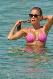 Sylvie Meis in a Bikini on the Beach in Saint Tropez 07/23/2021