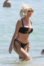 Victoria Silvstedt in a Bikini at Byblos Beach in Saint Tropez 07/20/2021
