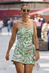 Vogue Williams in a Summer Mini Dress - London 07/29/2021