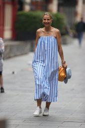 Vogue Williams in Striped Summer Dress - London 07/25/2021
