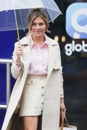 Zoe Hardman in Cream Mini Skirt and Pink Blouse - London 07/04/2021
