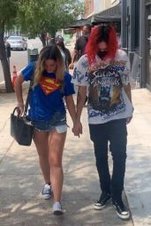 Addison Rae and Omer Fedi - Out in West Hollywood 08/23/2021