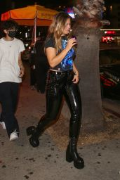 Addison Rae Night Out Style - HYDE in West Hollywood 08/12/2021