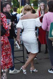 Aisleyne Horgan-Wallace in a White Dress - The Luna
