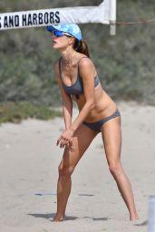 Alessandra Ambrosio  - Beach Volleyball in Malibu 08/21/2021