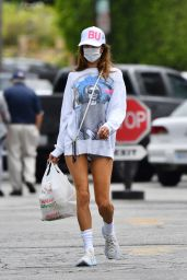 Alessandra Ambrosio in Casual Outfit - Los Angeles 08/11/2021