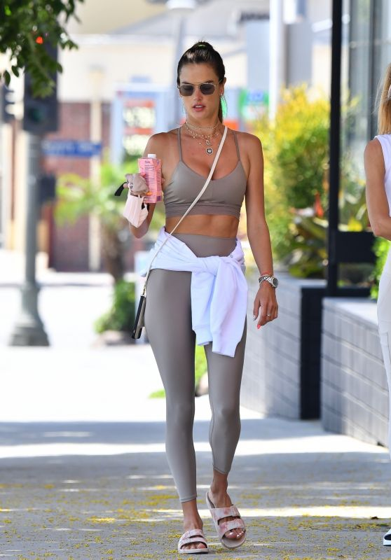 Alessandra Ambrosio in Workout Outfit - Brentwood 08/30/2021