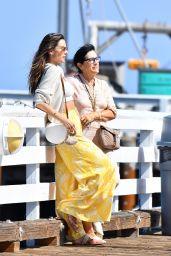 Alessandra Ambrosio - Out on Malibu Pier 08/09/2021