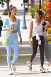 Alessandra Ambrosio Wears a Baby Blue Fit - Los Angeles 08/23/2021