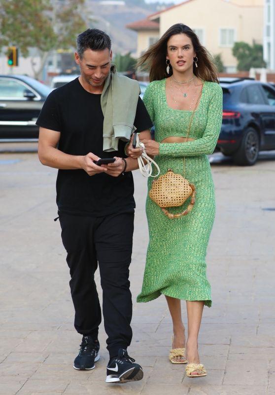 Alessandra Ambrosio With Boyfriend Richard Lee at Nobu Malibu 08/14/2021