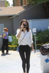 Alexandra Daddario – Leaves Jennifer Klien's Day of Indulgence in Brentwood 08/15/2021
