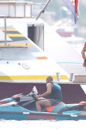 Alize Lim in a Swimsuit on a Yacht in the South of France 08/20/2021