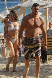 Amanza Smith on the Beach in Mykonos 08/01/2021