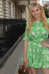 Amy Hart in Mini Dress - London 08/10/2021