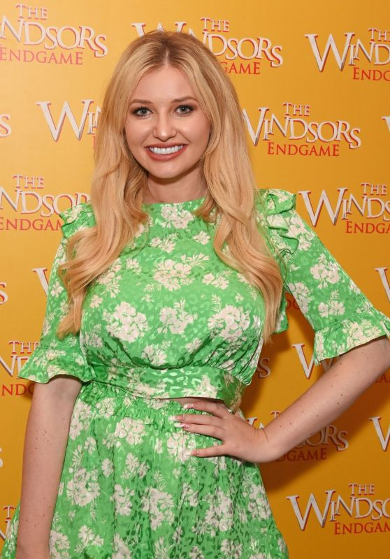 """Amy Hart - """"The Windsors: Endgame"""" Press Night Performance at The Prince of Wales Theatre in London 08/10/2021"""