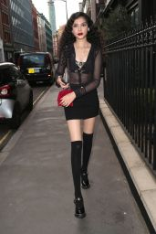 Anastasia Higgins Night Out Style - The Mandrake Hotel in London 08/12/2021