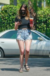 Ashley Benson Displaying Her Legs in Daisy Dukes and a Black Tee - Los Feliz 08/25/2021