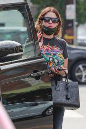 Ashley Benson Wears Foghat Vintage Tee and Ripped Jeans - Los Feliz 08/30/2021