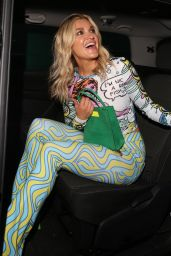 Ashley Roberts - Leaves VIP Private View of Van Gogh: The Immersive Experience in London 08/03/2021