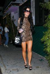 Ava Tortorici in Form-Fitting Animal Print Dress - Los Angeles 08/19/2021