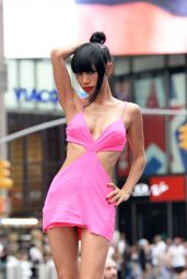 Bai Ling - Photoshoot in Times Square in New York 08/20/2021