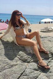 Blanca Blanco in a Zebra Print Bikini on the Beach in Italy 08/04/2021