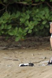Brie Larson in a butterfly Swimsuit - Hawaii 04/19/2021