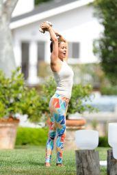 Brooke Burke - Teaching Her Workout Class in Los Angeles 08/16/2021