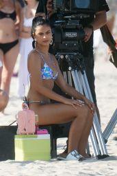 "Camila Mendes in a Bikini - ""Strangers"" Set in Miami 07/20/2021"