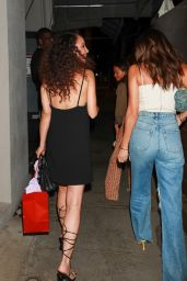 Cara Santana in Little Black Dress at Craigs in West Hollywood 08/12/2021