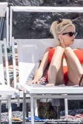 Caroline Vreeland in a Red Bikini - Positano 08/26/2021